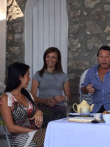 Miguel Angel Zotto,  Daiana Guspero e Angela Borrelli